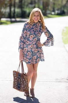 Floral Dress and Booties