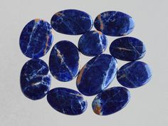 11 Pcs Natural Sodalite,Handmade Cabochon Jewelry Making Gemstone,Smooth Polish Gemstone,Rare Sodalite Gemstone#9290 by dhorgems on Etsy