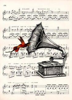 Sheet Music Crafts, Sheet Music Art, Music Paper, Music Drawings, Music Artwork, Art Music, Decoupage Vintage, Vintage Paper, Book Page Art