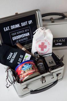 DIY Groomsman Lunchbox.