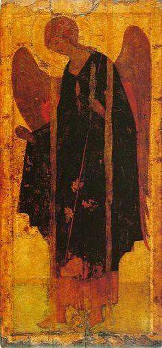 The Archangel Gabriel. Raphael Angel, Archangel Raphael, Byzantine Art, Byzantine Icons, Russian Icons, Russian Art, Religious Icons, Religious Art, Andrei Rublev