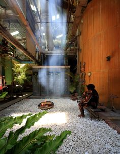 Built by Marco Casagrande in Taitung County, Taiwan with date 2014. Images by AdDa Zei. The Ruin Academy is set up in an abandoned Japanese-Taiwanese sugar factory (1913-1996) in Taitung, Taiwan in order t...