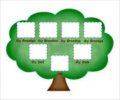 Family Tree Format Chart Kids