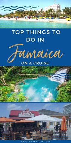 Are you taking a cruise vacation or traveling to Jamaica? Here is our guide for the top 10 things to do to make the most of your visit. Check out our post where we share the best excursions and things to do in this Caribbean Island. From several ports, including Ocho Rios, Montego Bay and Falmouth, exploring the history and culture of the island, to relaxing on the beach, and so much more. It can be overwhelming so use this list to make the most of your time. Cruise Excursions, Cruise Destinations, Shore Excursions, Amazing Destinations, Visit Jamaica, Jamaica Travel, Best Cruise, Cruise Vacation, Vacations