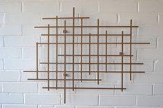 Square Metal Art Sculpture Modern Steel Decor Decoration 3D Dimensional Wall Art. $135.00, via Etsy.