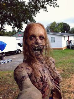 Extra on the set takes a selfie. http://www.reddit.com/r/pics/comments/19h1i4/extra_on_the_set_of_twd_takes_a_selfie/