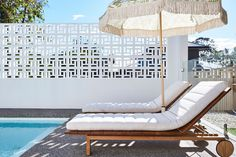 Modern Pool Designs and 3 Things Every Pool Owner Should Know – My Life Spot Outdoor Spaces, Outdoor Living, Outdoor Decor, Besser Block, Breeze Block Wall, Modern Pools, Pool Furniture, Coastal Homes, Pool Houses