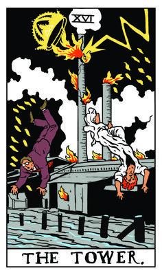 The Tower - Twin Peaks Tarot  THE PACKARD SAWMILL FIRE by Benjamin Mackey.