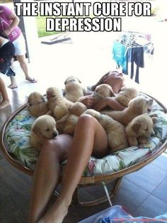 The instant cure for depression- um I'll take one of those!!!!