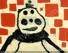 Donald Baechler Painting | BAECHLER Donald,Abstract painting with clown,Sotheby's,London