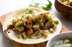 Potato 'Salad' and Tomatillo Tacos by NYTimes.com. #Vegetarian #Mexican #Snack #Tacos