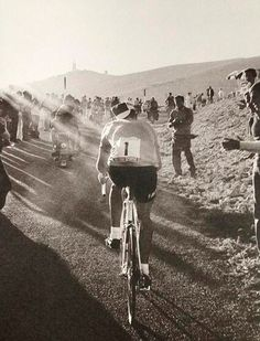 Eddy Merckx on the Mount Ventoux.
