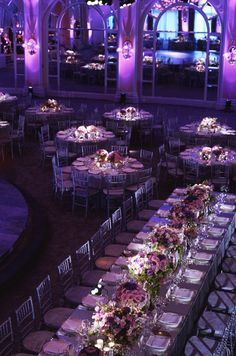 The bridal party sat at a long, beautiful head table that stood out from the other round dining tables.