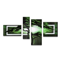 Green Tree of Africa Landscape Canvas Wall Art Oil Painting