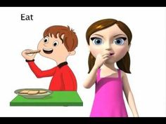 Learn the ASL sign for EAT with My Smart Hands Animated Dictionary!