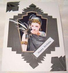 art deco cards clintons - Google Search