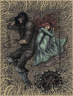 bubug again with more sansa. this with sandor. my fav couple possibility :) perfect with Walter Gilman's Into the Wood  http://www.fanfiction.net/u/4170669/Walter-Gilman  Total awesomeness