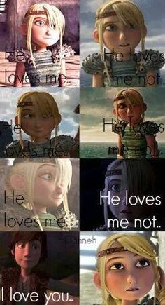 Hiccup confesses his love for Astrid to her. <3
