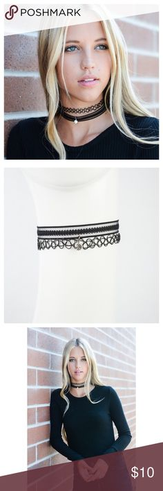 """Lace Choker Necklace, Bohemian Necklace This listing is for a lace Choker necklace featuring a CZ pendant. Lobster clasp closure. Adds a little """"babum"""" to any outfit! Jewelry Necklaces"""