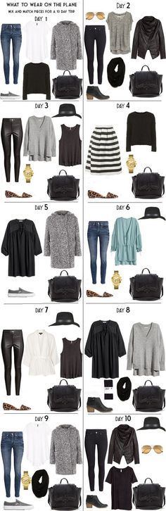 10 Days in Stockholm Day Outifts Options from my Stockholm, Sweden packing list on the blog. #packinglist #outfits #packinglight #travellight