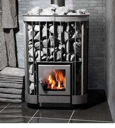 Kastor > Wood burning heaters - Helo Ltd Saunas, Outdoor Wood Furnace, Wood Burning Heaters, Sauna House, Sauna Design, Stove Heater, Fire Pit Materials, Prefab Cabins, Metal Fire Pit