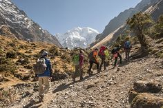 Hike through the amazing #Vilcabamba Mountain Range and pass through stunning landscapes varying from tropical Cloud Forest to the high Andes on this beautiful Salkantay Trek to Machu Picchu.