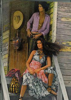 Puerto Rico fashion shoot in 1970 Vogue magazine