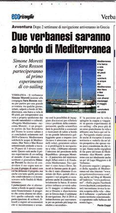 Eco Risveglio - Due Varbanesi a bordo di Mediterranea #progettomediterranea