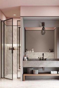 Over 70 Trendy interior design ideas for the whole apartment - 2019 - - organization - Einrichtungsideen Modern Bathroom Decor, Bathroom Layout, Bathroom Interior, Small Bathroom, Bathroom Mirrors, Bathroom Designs, Minimal Bathroom, Bathroom Lighting, Bathroom Ideas