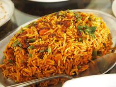 Biryani at it's best. Biryani any day is an awesome idea. Which is your biryani day, comment below. Hyderabadi Biryani Recipe, Veg Biryani, Pav Bhaji, Indian Food Recipes, Ethnic Recipes, Bagels, Vegetable Recipes, Nutella, Gastronomia