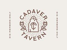 Cadaver Tavern Badge by Kevin Fluegel   #badge #logobadges #emblem #logodesign #logos