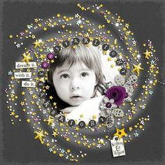 Star Light, Star Bright - Can& get over how beautiful this is! Scrapbooking Photo, Kids Scrapbook, Digital Scrapbooking Layouts, Scrapbook Templates, Scrapbook Designs, Wedding Scrapbook, Scrapbook Paper Crafts, Scrapbook Supplies, Scrapbook Cards