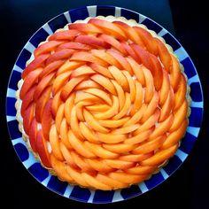 Apricot cream tart. #lokokitchen