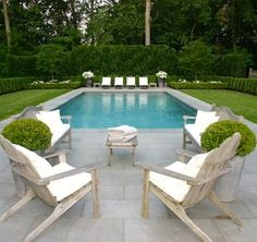 Beautiful swimming pool, and furniture placement, patio