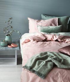 Påslakanset i bomull | Ljusrosa | Home | H&M SE