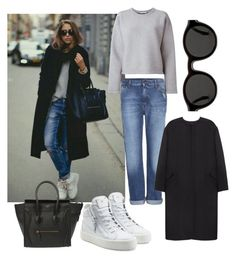"""""""tomboy chic"""" by rhmz on Polyvore featuring McQ by Alexander McQueen, T By Alexander Wang, Non, CÉLINE, Mykita, Giuseppe Zanotti, women's clothing, women's fashion, women and female"""