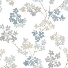 vliesbehang bloesem blauw (dessin 2258-41), alles voor je klus om je huis & tuin te verfraaien vind je bij KARWEI