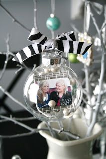 Christmas ornament 2013 exchange idea but with sand, shells, and photo of grandkids from NC