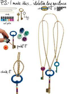 Ako urobiť krásny náhrdelník z kľúča