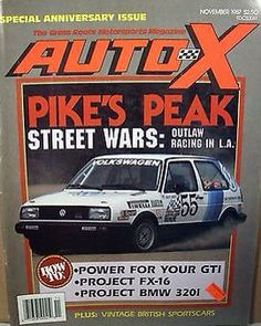1987 Pikes Peak Hill Climb race. VW cover feature on Auto-X magazine.