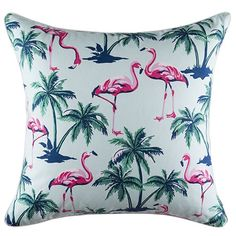 Flamingo Island Cushion 50x50cm #freedomaustralia #webelieveinsummerliving