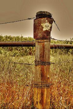 Barbed wire corner post