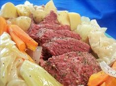 Corned Beef and Cabbage (Crock Pot) from Food.com:   Here is an easy way to fix your Corned Beef and Cabbage, in the Crock pot! I found this recipe in The Best Slow Cooker Cookbook Ever