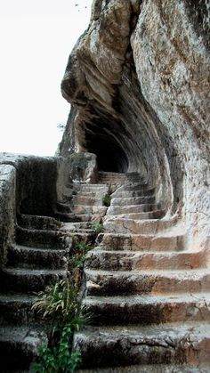 Below some royal burial ruins carved into rock...Amasya, Turkey