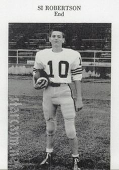 Si in uniform when he played for North Caddo High School in Vivian, LA.  He wore the same #10 that big brother Phil wore at LA Tech.