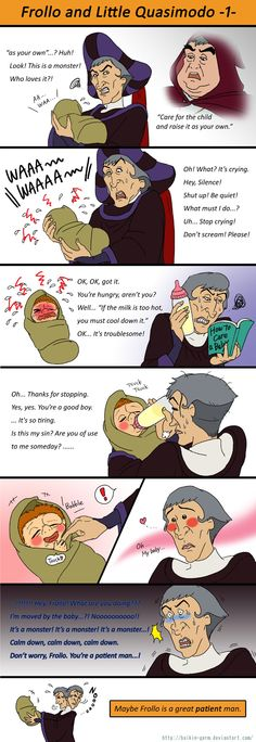Frollo and Little Quasimodo 1 by baikin-germ.deviantart.com on @deviantART