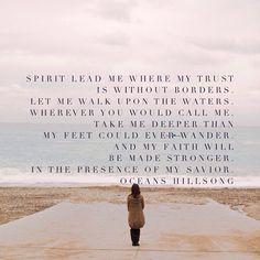 Spirit lead me...
