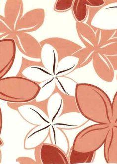 30omea Tropical Hawaiian Orange/White, Sixties Plumeria flowers on cotton poplin   apparel fabric. Hawaiian vintage style fabric.  BarkclothHawaii.com