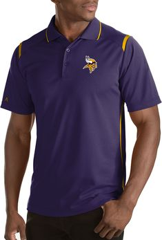 b5c5cc176 Antigua Men s Minnesota Vikings Merit Purple Xtra-Lite Polo