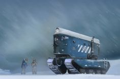 Dieselpunk Concept Art | dieselpunk style all terrain vehicle by grafikot - Béla Kotroczó ...
